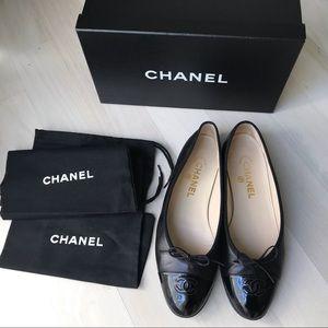 Chanel Ballerines Black Flats